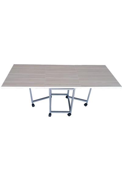 Montajı Yapılmış Katlanır Çok Amaçlı Ahşap KANEPE Yemek Masası (Ölçüleri koltuğa göredir)