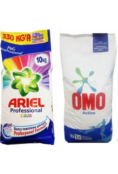 Ari̇el Parlak Renkler 10 kg / Omo Acti̇ve Fresh 10 kg