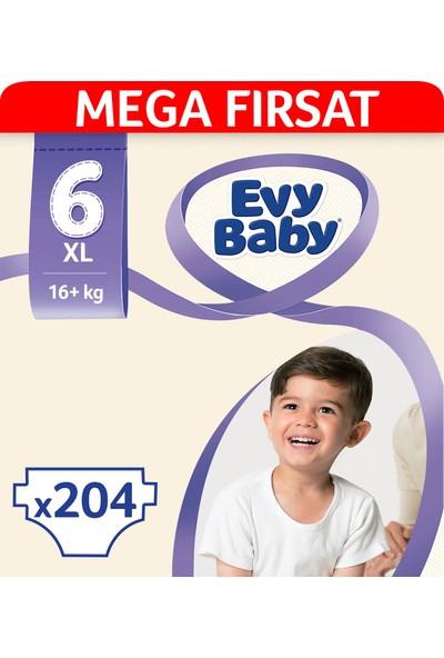 Evy Baby Bebek Bezi 6 Beden Ekstra Large Mega Fırsat Paketi 204 Adet