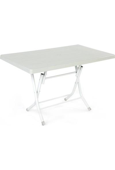 Plastıco 70X120 Metal Ayak Katlanır Plastik Masa