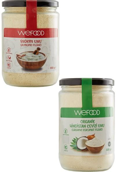 Wefood Badem Unu 350 gr + Organik Hindistan Cevizi Unu 320 gr