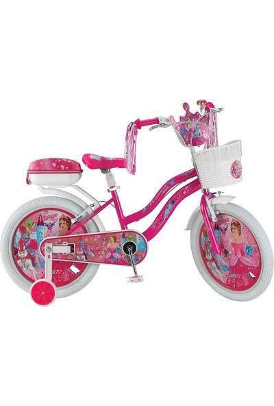 "Ümit 20"" Princess 2008 Çelik Kadro Sepetli V Fren 1 Vites Kız Çocuk Bisikleti"