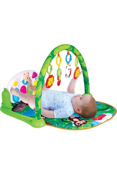 Furkan Toys Piyanolu Oyuncaklı Müzikli Bebek Oyun Halısı