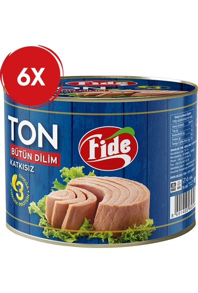 Fide Ton Balık 1705 gr / 6 Adet