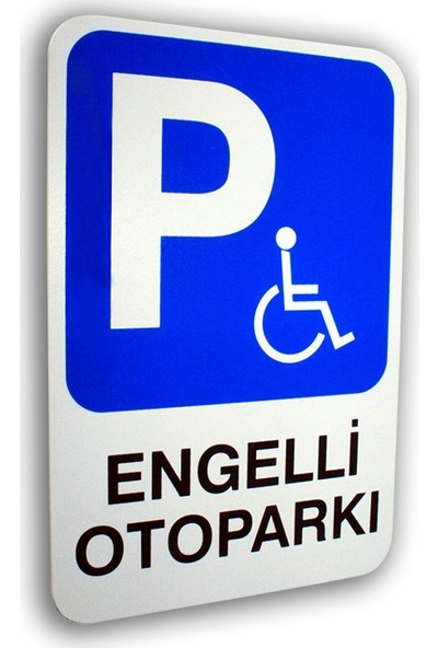 PassPano Pvc Foam Levha ENGELLİ OTOPRAKI 16 x 24 cm