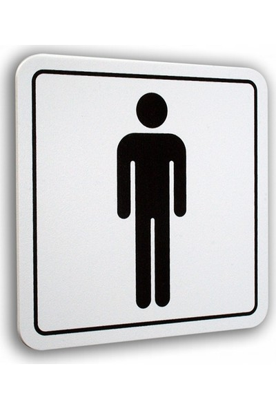 PassPano Pvc Foam Levha BAY WC Sembol 12 x 12 cm