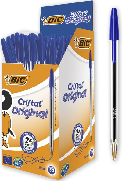 Bic Cristal Medium Tükenmez Kalem Mavi 50'Li Kutu