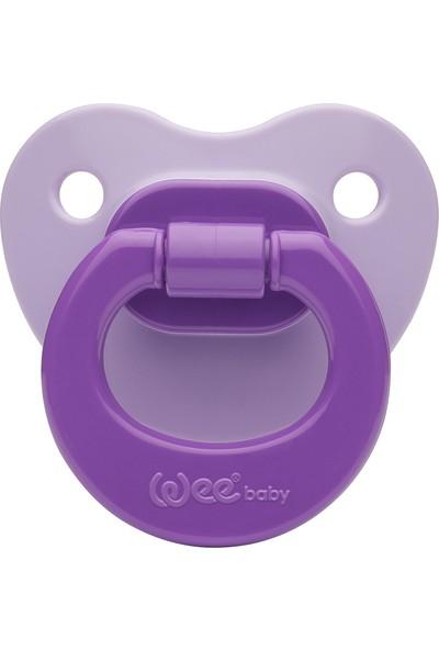 Wee Baby Baby Silikon Damaklı Emzik (Askılı)