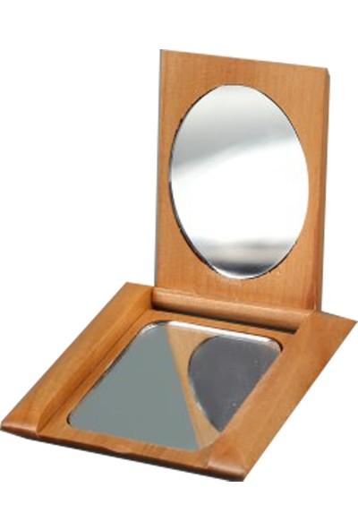 İdea Ahşap Kapanabilir Pratik Makyaj Aynası