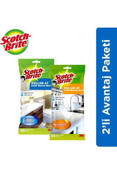 Scotch Brite 2'li Avantaj Paketi (Islak Mutfak ve Banyo Bezi)