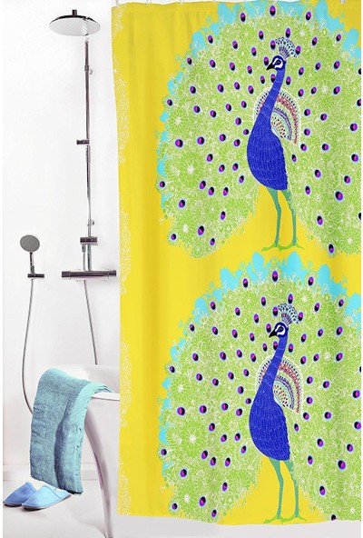 Melodie Banyo Duş Perdesi Renkli 180X200