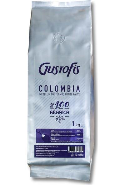 Gustofis Colombia Medellin Öğütülmüş Filtre Kahve 1 kg