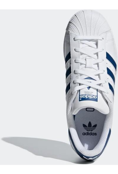 Adidas Genç Günlük Ayakkabı Spor Beyaz F34163 Superstar J