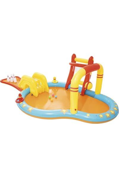 Bestway 53068 Aquapark Kaydıraklı Bowling Oyuncaklı Şişme Havuz