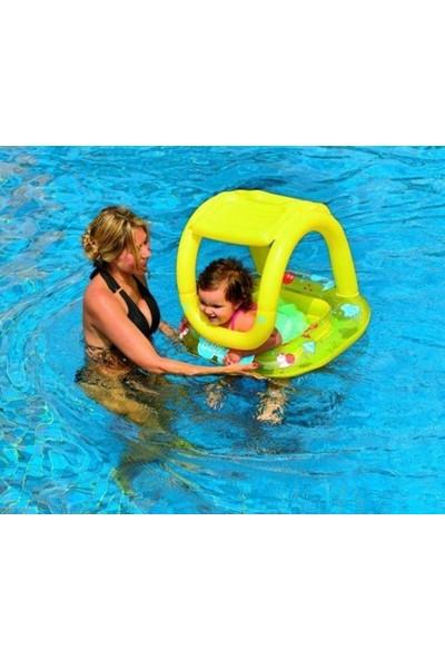 Jilong Baby Float Sarı Gölgelikli Simit