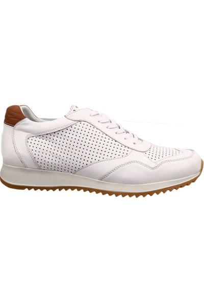 Dgn 1924 Erkek Sneakers Ayakkabı Beyaz Taba