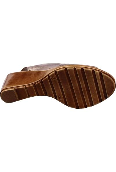 Dgn 9381 Kadın Dolgu Taban Slingbacks Sandalet Ash