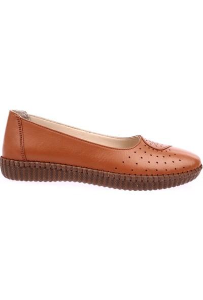 Dgn P11 Kadın Anatomic Footwear Deri Babet Taba