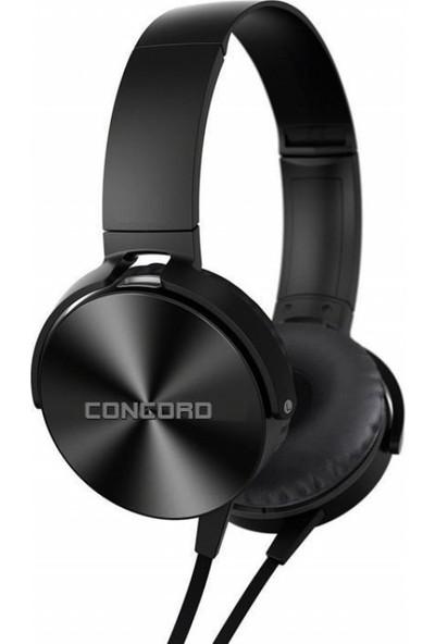 Concord C-908 Siyah | Bilgisayar | Mp3 Mikrofonlu Kulaklık