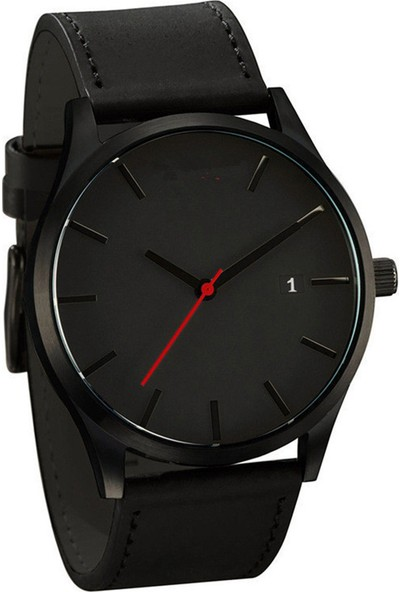GOB2C Unisex Günlük Kol Saati-Siyah