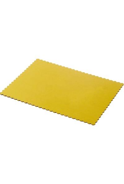 Bens Şekilli Yaş Pasta Altı Gold-Kalın 32 x 45 cm -15 li