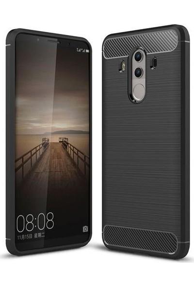 Tbkcase Huawei Mate 10 Pro Özel Karbon ve Silikonlu Kılıf Siyah