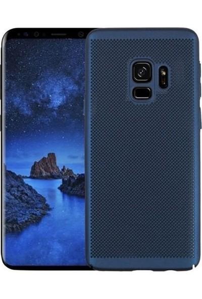 Tbkcase Samsung Galaxy S9 Delikli Sert Kapak Kılıf Lacivert