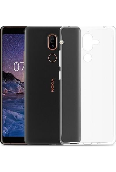 Tbkcase Nokia 7 Plus Silikon Kılıf Şeffaf