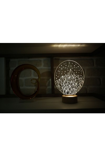 By-Lamp Kristal Buzdağı Gece Lambası