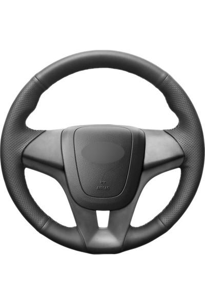 Fox Chevrolet Aveo 2011-2014 Siyah Deri Direksiyon Kılıfı (CH-002)