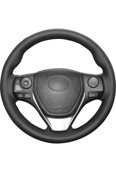 Fox Toyota Corolla 2013-2018 Siyah Deri Direksiyon Kılıfı (TO-007)