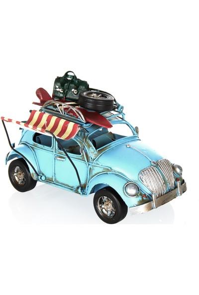 Mnk Volkswagen Beetle Classic Çerçeveli Tenteli Metal Araba