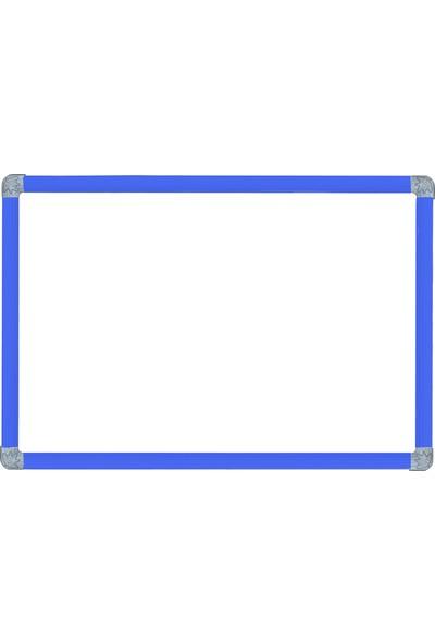Abc 25X35 Alüminyum Çerçeve Laminat Mini Yazı Tahtası Mavi Çerçeve