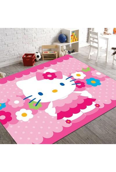 Veronya Hello Kity2 Desenli Kaymaz Taban Çocuk Odası Halısı 180x280