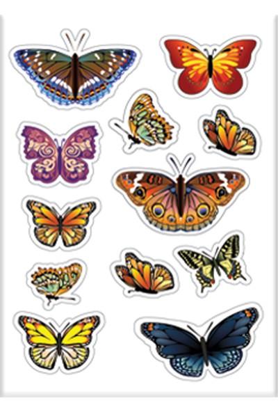 Keskin Color 8*12 Damla Çıkartma-Kelebek1