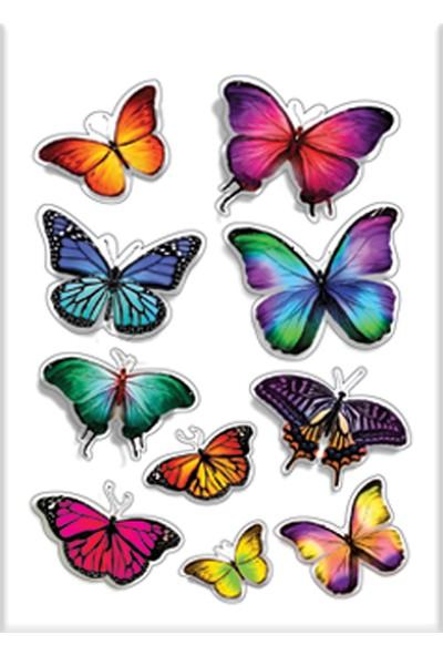 Keskin Color 8*12 Damla Çıkartma-Kelebek2
