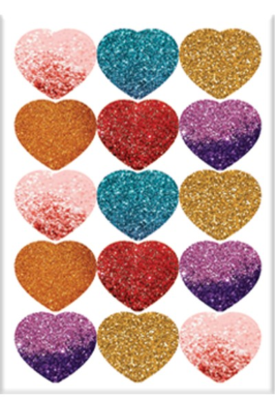 Keskin Color 8*12 Damla Çıkartma-Simli Kalp