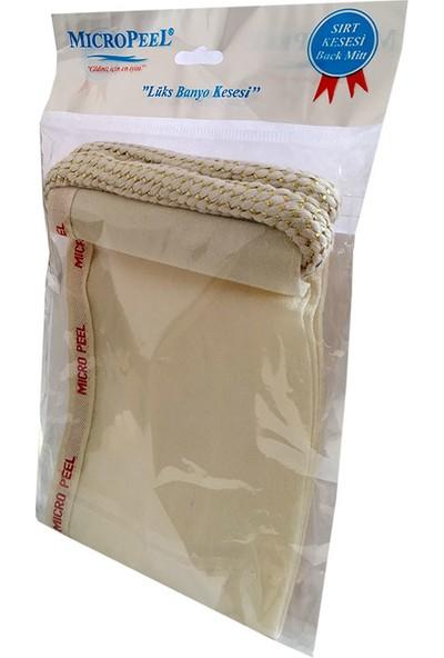 Micro Peel İpek Sırt Kesesi Beyaz 12 x 70 cm
