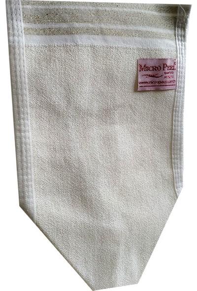 Micro Peel İpek Sırt ve Vücut Tellak Kese Beyaz 16 x 27 cm