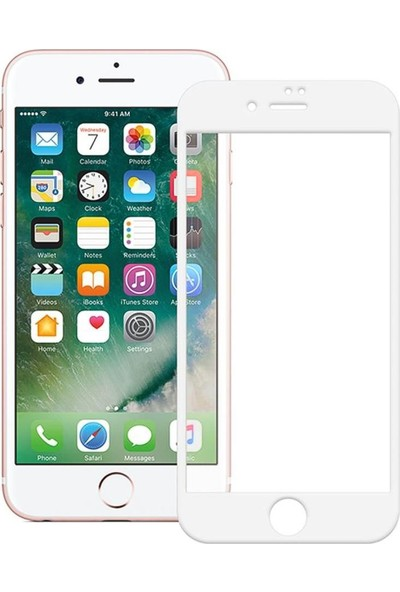 Semuse Apple iPhone 7/8 Si̇yah 9D Ekran Koruyucu