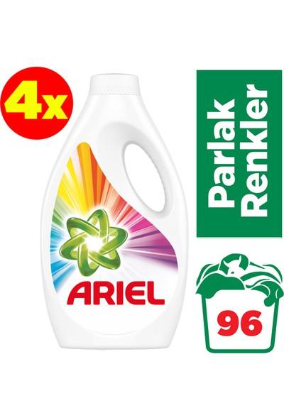 Ariel 24 Yıkama 4'lü Paket Sıvı Çamaşır Deterjanı Parlak Renkler