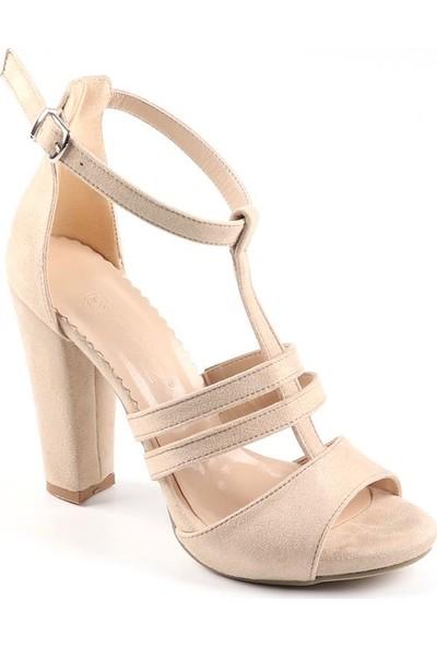 Föz Ten Süet Kadın Topuklu Ayakkabı