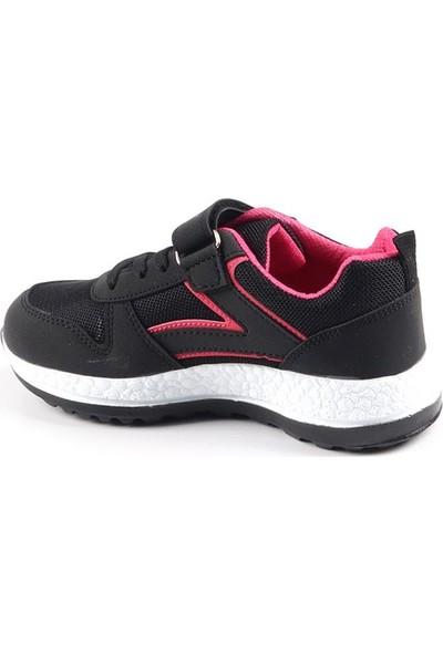 Rodex Siyah Günlük Fileli Kız Çocuk Spor Ayakkabı