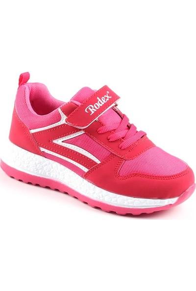 Rodex Pembe Günlük Fileli Kız Çocuk Spor Ayakkabı