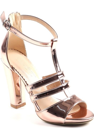 Föz Bronz Kadın Topuklu Ayakkabı