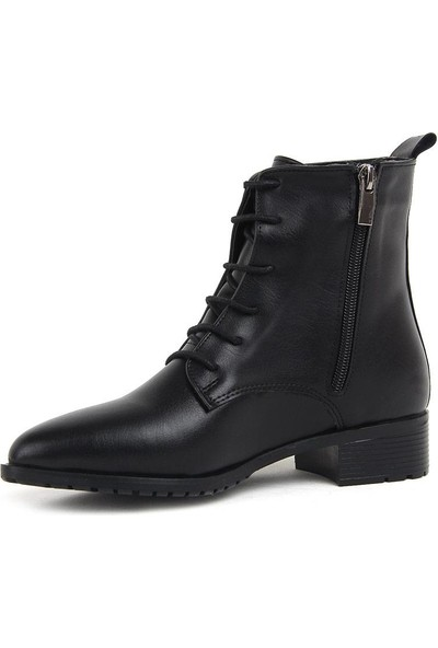 Miss Fonzo 1820 Siyah Günlük Termo Kadın Cilt Bot Ayakkabı