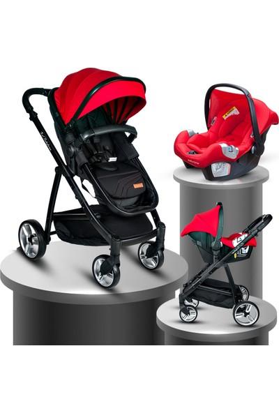 Baby Home BH-975 Rover Travel Sistem Bebek Arabası Black Red