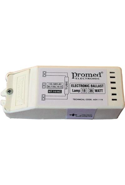 Promed AC 110 V 18-36 W Floresan ve Pl-L Ampül Balastı