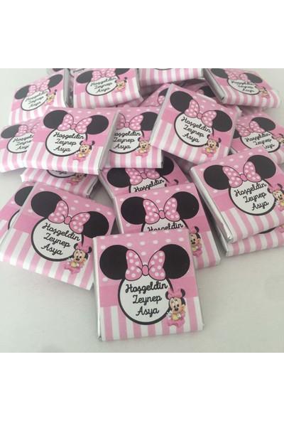 Melodi Minnie Mouse Dökme Kız Bebek Çikolatası