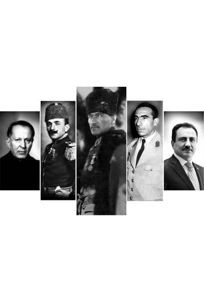 Meteor Galeri Atatürk Alparslan Türkeş Yazıcıoğlu Hüseyin Nihal Atsız Enver Paşa Kanvas Tablosu